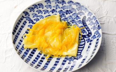 クレープのオレンジソース